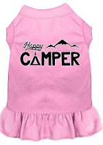 Happy Camper Screen Print Dog Dress Light Pink XS (8)