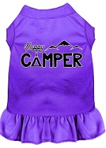 Happy Camper Screen Print Dog Dress Purple XS (8)