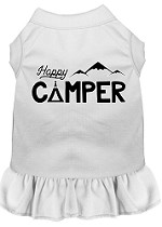 Happy Camper Screen Print Dog Dress White XS (8)