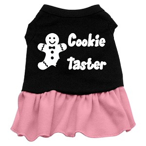 Cookie Taster Screen Print Dress Black with Light Pink XXL (18)