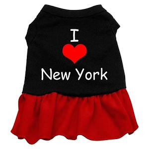I Heart New York Screen Print Dress Black with Red Sm (10)