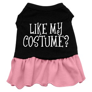 Like my costume? Screen Print Dress Black with Light Pink XXXL (20)