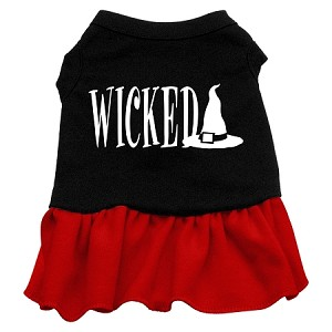 Wicked Screen Print Dress Black with Red Lg (14)