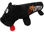 Basketball Plush Squeaky Tube Dog Toy Black