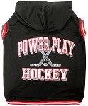 Hockey Hooded Pet Sweatshirt Black XS