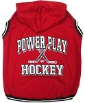 Hockey Hooded Pet Sweatshirt Red XS