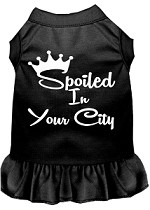 Spoiled in Washington D.C. Screen Print Souvenir Dog Dress Black XS