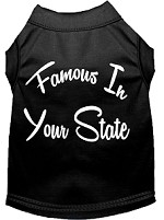 Famous in Arkansas Screen Print Souvenir Dog Shirt Black XS