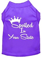 Spoiled in Kansas Screen Print Souvenir Dog Shirt Purple XS