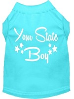 Indiana Boy Screen Print Souvenir Dog Shirt Aqua XS