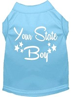 Indiana Boy Screen Print Souvenir Dog Shirt Baby Blue XS