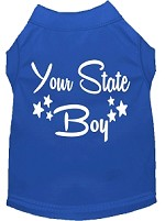Indiana Boy Screen Print Souvenir Dog Shirt Blue XS