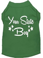 Indiana Boy Screen Print Souvenir Dog Shirt Green XS