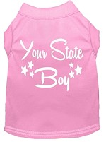 Indiana Boy Screen Print Souvenir Dog Shirt Light Pink XS