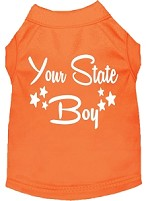Indiana Boy Screen Print Souvenir Dog Shirt Orange XS