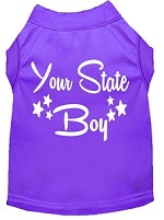 Indiana Boy Screen Print Souvenir Dog Shirt Purple XS