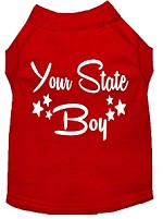 Indiana Boy Screen Print Souvenir Dog Shirt Red XS