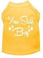 Indiana Boy Screen Print Souvenir Dog Shirt Yellow XS