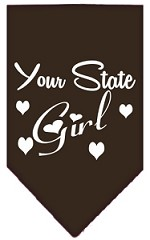 New Mexico Girl Screen Print Souvenir Pet Bandana Cocoa Small