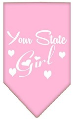 New Mexico Girl Screen Print Souvenir Pet Bandana Light Pink Small