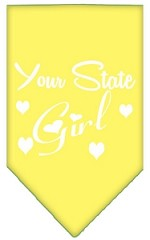 New Mexico Girl Screen Print Souvenir Pet Bandana Yellow Small
