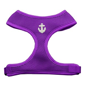 White Anchors Chipper Purple Harness Small