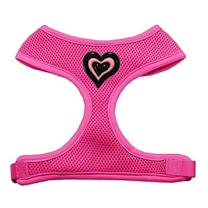 Black and Pink Hearts Chipper Pink Harness Small