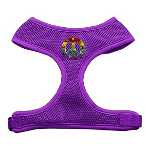 Rainbow Peace Sign Chipper Purple Harness Large