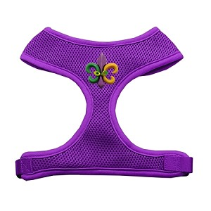 Mardi Gras Fleur de Lis Chipper Purple Harness Large