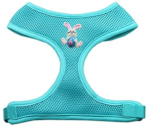 Easter Bunny Chipper Aqua Harness Medium