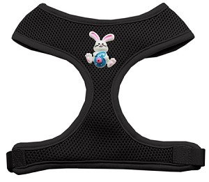 Easter Bunny Chipper Black Harness Medium