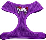 Unicorn Embroidered Soft Mesh Harness Purple Small