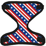 Stars and Stripes Canvas and Mesh Pet Harness Small