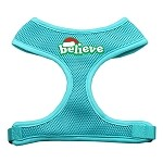 Believe Screen Print Soft Mesh Harnesses Aqua Small