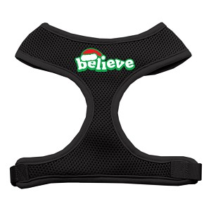 Believe Screen Print Soft Mesh Harnesses Black Extra Large