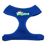 Believe Screen Print Soft Mesh Harnesses Blue Small