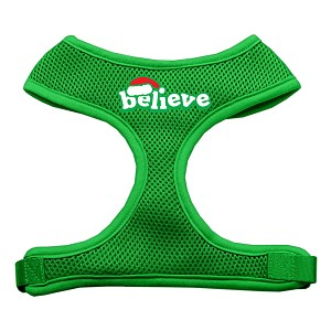 Believe Screen Print Soft Mesh Harnesses Emerald Green Large