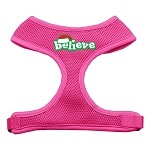 Believe Screen Print Soft Mesh Harnesses Pink Small