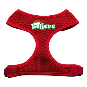 Believe Screen Print Soft Mesh Harnesses Red Small