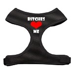 Bitches Love Me Soft Mesh Harnesses Black Small