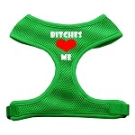 Bitches Love Me Soft Mesh Harnesses Emerald Green Small