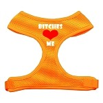 Bitches Love Me Soft Mesh Harnesses Orange Small