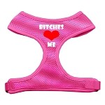 Bitches Love Me Soft Mesh Harnesses Pink Small