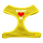 Bitches Love Me Soft Mesh Harnesses Yellow Small