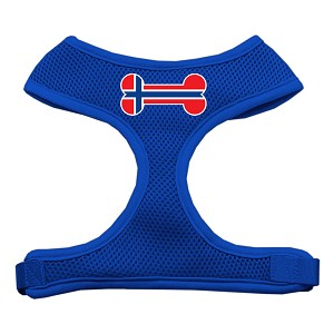 Bone Flag Norway Screen Print Soft Mesh Harness Blue Small
