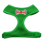 Bone Flag UK Screen Print Soft Mesh Harness Emerald Green Small