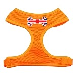 Bone Flag UK Screen Print Soft Mesh Harness Orange Small