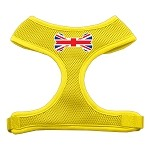 Bone Flag UK Screen Print Soft Mesh Harness Yellow Small