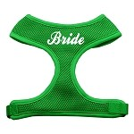 Bride Screen Print Soft Mesh Harness Emerald Green Small