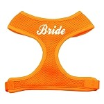 Bride Screen Print Soft Mesh Harness Orange Small